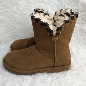 UGG Chestnut Aidah Boots. EUC.